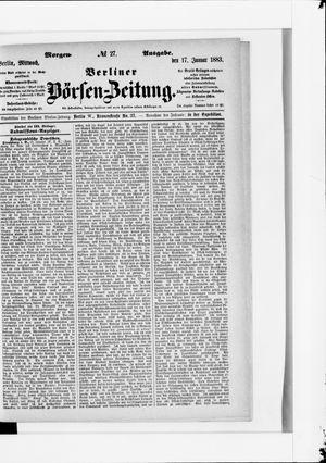 Berliner Börsen-Zeitung vom 17.01.1883
