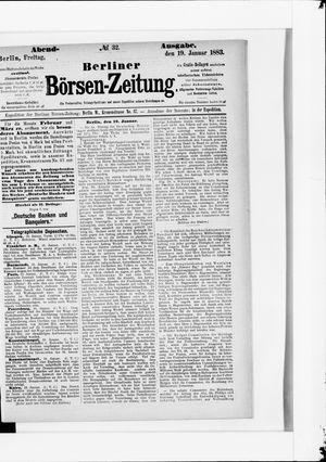 Berliner Börsen-Zeitung vom 19.01.1883