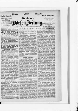 Berliner Börsen-Zeitung vom 20.01.1883