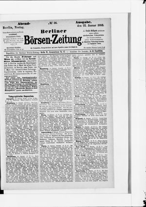 Berliner Börsen-Zeitung vom 22.01.1883