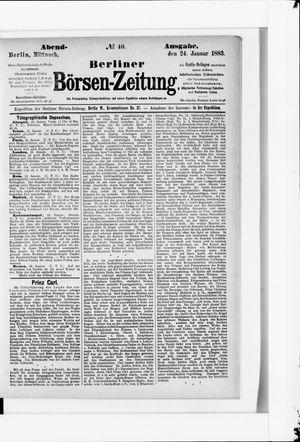 Berliner Börsen-Zeitung vom 24.01.1883