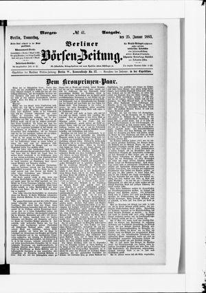 Berliner Börsen-Zeitung vom 25.01.1883