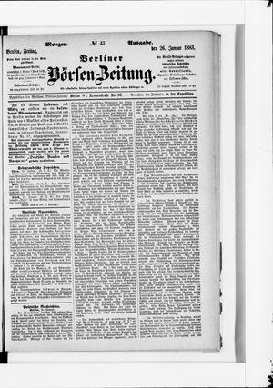 Berliner Börsen-Zeitung vom 26.01.1883