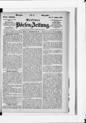 Berliner Börsen-Zeitung vom 27.01.1883