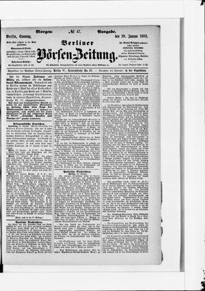 Berliner Börsen-Zeitung vom 28.01.1883