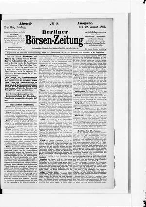Berliner Börsen-Zeitung vom 29.01.1883