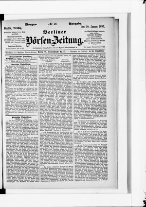 Berliner Börsen-Zeitung vom 30.01.1883