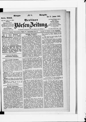 Berliner Börsen-Zeitung vom 31.01.1883