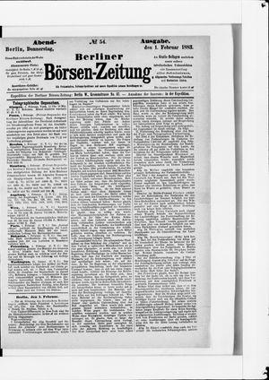 Berliner Börsen-Zeitung vom 01.02.1883