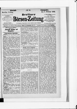 Berliner Börsen-Zeitung vom 02.02.1883