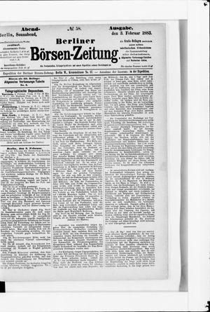 Berliner Börsen-Zeitung vom 03.02.1883