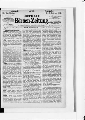 Berliner Börsen-Zeitung vom 05.02.1883