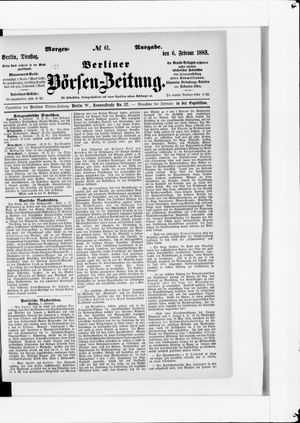 Berliner Börsen-Zeitung vom 06.02.1883