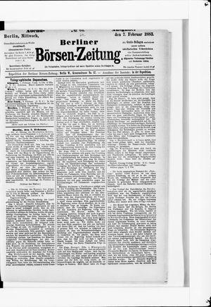 Berliner Börsen-Zeitung vom 07.02.1883