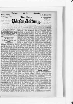 Berliner Börsen-Zeitung vom 11.02.1883