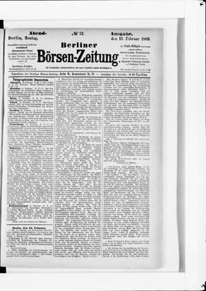 Berliner Börsen-Zeitung vom 12.02.1883
