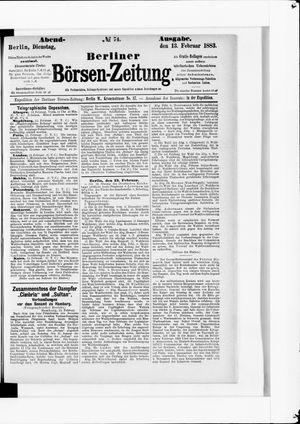 Berliner Börsen-Zeitung vom 13.02.1883