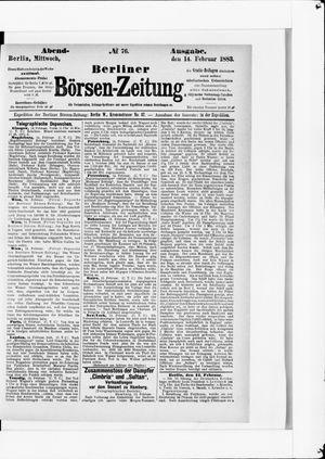 Berliner Börsen-Zeitung vom 14.02.1883