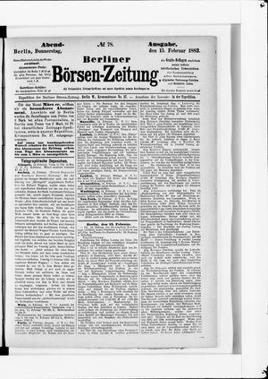 Berliner Börsen-Zeitung vom 15.02.1883