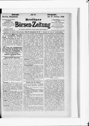 Berliner Börsen-Zeitung vom 17.02.1883