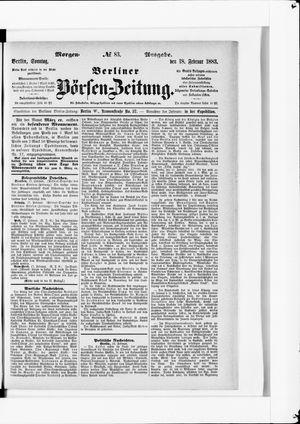 Berliner Börsen-Zeitung vom 18.02.1883
