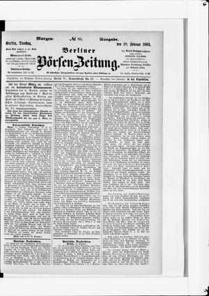 Berliner Börsen-Zeitung vom 20.02.1883