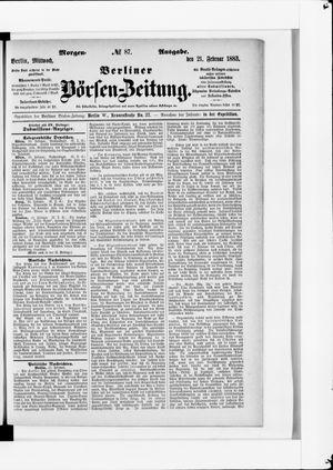 Berliner Börsen-Zeitung vom 21.02.1883