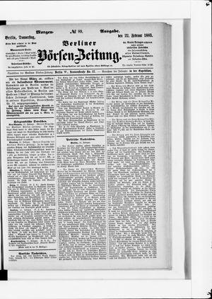 Berliner Börsen-Zeitung vom 22.02.1883