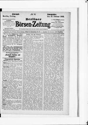 Berliner Börsen-Zeitung vom 23.02.1883