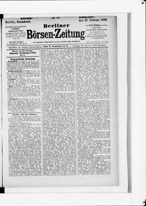 Berliner Börsen-Zeitung vom 24.02.1883