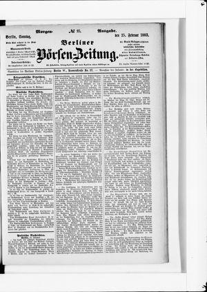 Berliner Börsen-Zeitung vom 25.02.1883