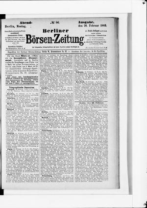 Berliner Börsen-Zeitung vom 26.02.1883