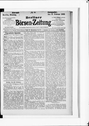 Berliner Börsen-Zeitung vom 27.02.1883