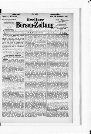 Berliner Börsen-Zeitung vom 28.02.1883