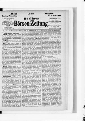 Berliner Börsen-Zeitung vom 01.03.1883