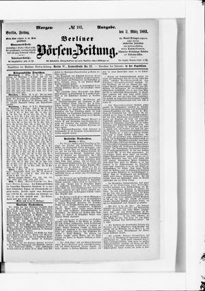 Berliner Börsen-Zeitung vom 02.03.1883