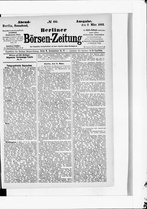 Berliner Börsen-Zeitung vom 03.03.1883