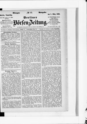 Berliner Börsen-Zeitung vom 08.03.1883