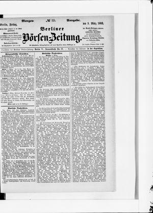 Berliner Börsen-Zeitung vom 09.03.1883