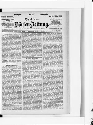 Berliner Börsen-Zeitung vom 10.03.1883