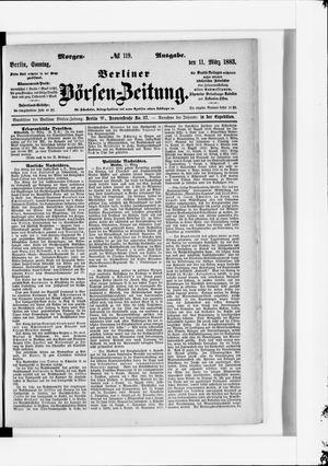 Berliner Börsen-Zeitung vom 11.03.1883