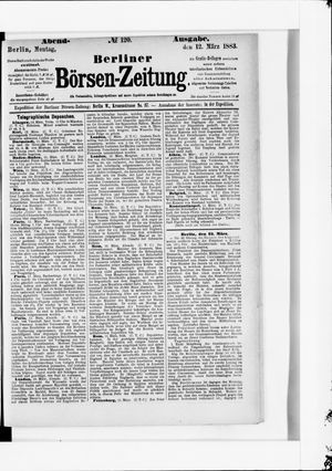 Berliner Börsen-Zeitung vom 12.03.1883