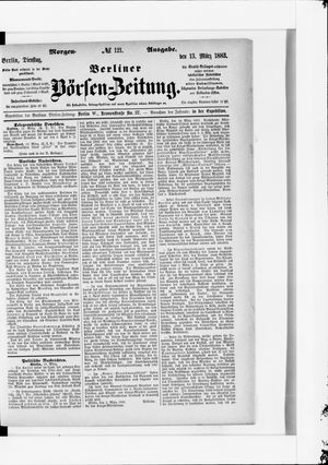 Berliner Börsen-Zeitung vom 13.03.1883