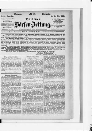Berliner Börsen-Zeitung vom 15.03.1883