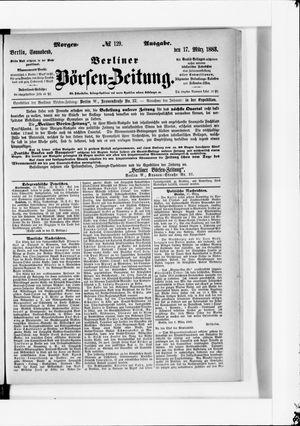Berliner Börsen-Zeitung vom 17.03.1883