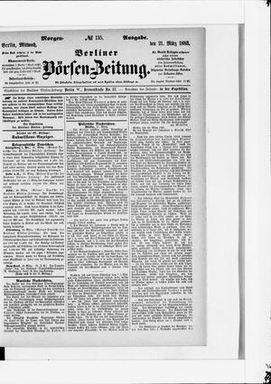 Berliner Börsen-Zeitung vom 21.03.1883