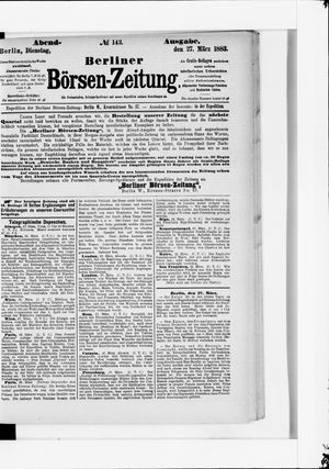 Berliner Börsen-Zeitung vom 27.03.1883