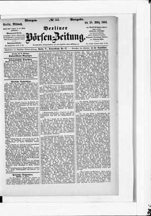 Berliner Börsen-Zeitung vom 28.03.1883