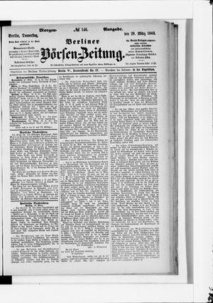 Berliner Börsen-Zeitung vom 29.03.1883