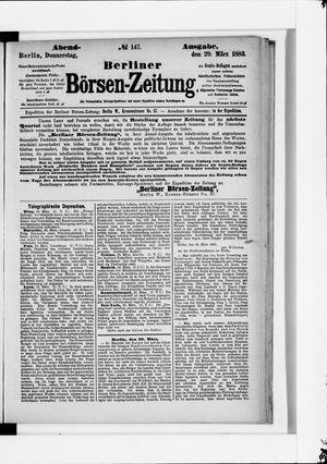 Berliner Börsen-Zeitung on Mar 29, 1883